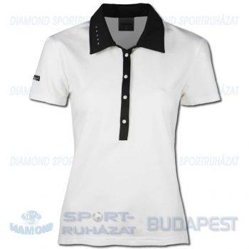 ERREA JANE WOMAN női póló (rövid ujjú galléros) - fehér-fekete