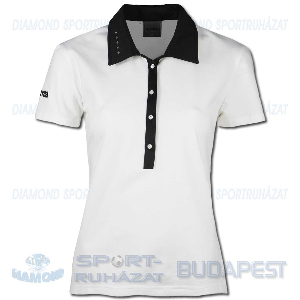 ERREA JANE női póló (rövid ujjú galléros) - fehér-fekete - Diamond ... 539ca08f7f