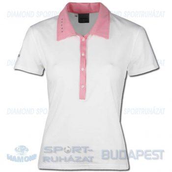 ERREA JANE WOMAN női póló (rövid ujjú galléros) - fehér-rózsaszín