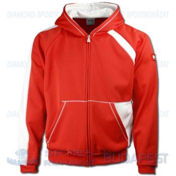 ERREA SIDNEY kapucnis-cipzáras edző- és szabadidő melegítő felső - piros-fehér [S]