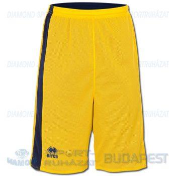 ERREA SEATTLE DOUBLE SHORT SENIOR kifordíthatós kosárlabda nadrág - sárga-sötétkék [L]