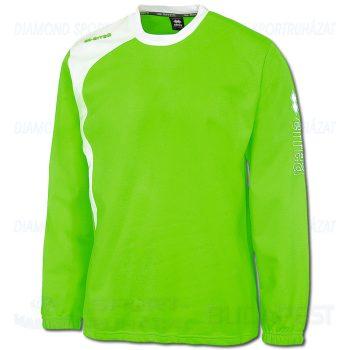 ERREA TRAFFORD SENIOR belebújós edző- és szabadidő melegítő felső - UV zöld-fehér [L]