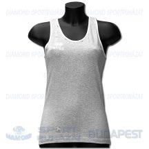 ERREA FIT LADIES JUNIOR női fitness póló (ujjatlan) - melírozott középszürke-fehér [S]